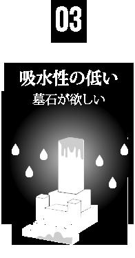 03 吸水性の低い墓石が欲しい